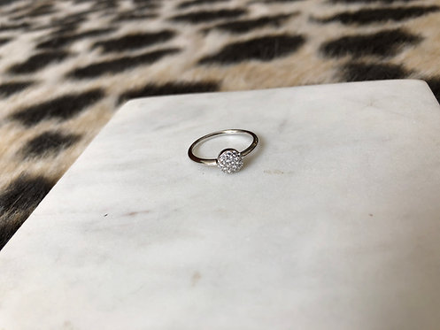 Round Pave Disc Ring