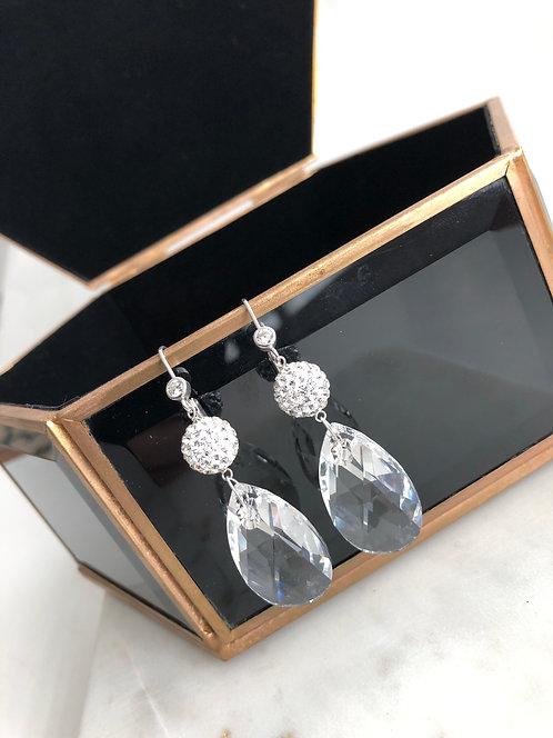 JumboCrystal Ball SwarovskiDangle Earrings