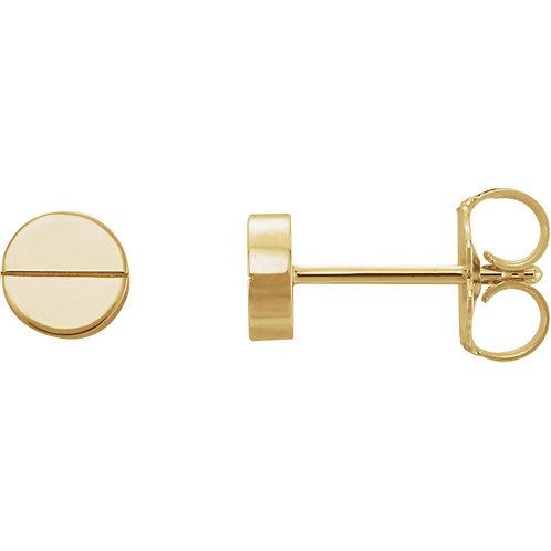14k Gold Screw Head Studs