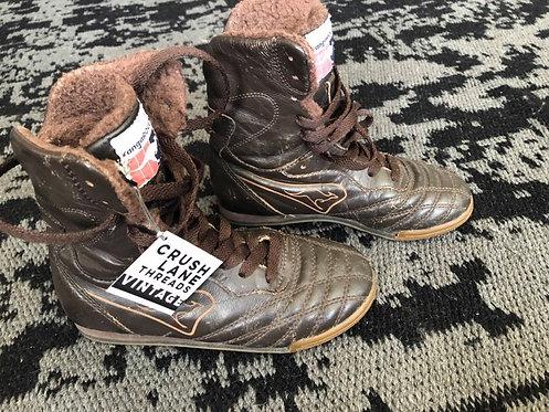 'KangaROOS' Leather High-Top Sneakers Kid's Sz 1