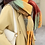 Thumbnail: Ultra-Soft Chunky Colour Blocked Scarf with Tassel