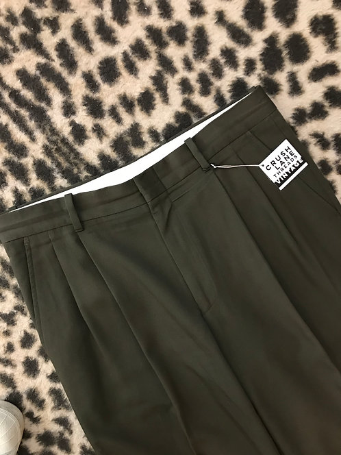Olive Green 'Cacharel' Trousers