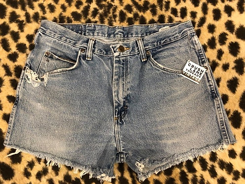 'Wrangler' Light Wash Denim Cut Offs Sz 34