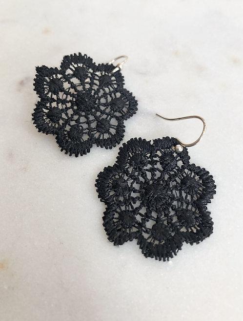 Florette Black Lace Earring