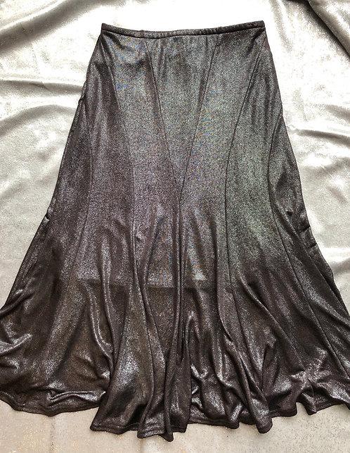 'Joseph Rikkaff' Burgundy Shiny Skirt SZ 8