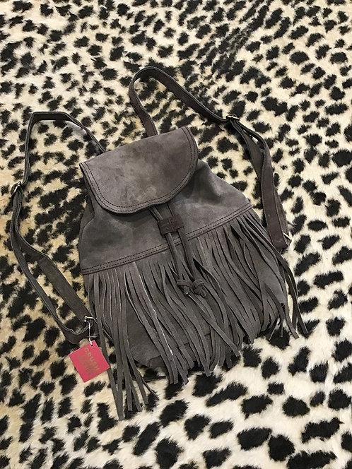Genuine Suede Fringe Backpack/Bookbag