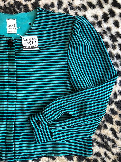 Repurposed 'Cami' Striped Blouse