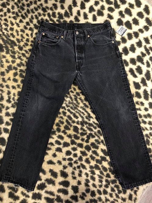 'Levis' Black Jeans w/ Button Fly