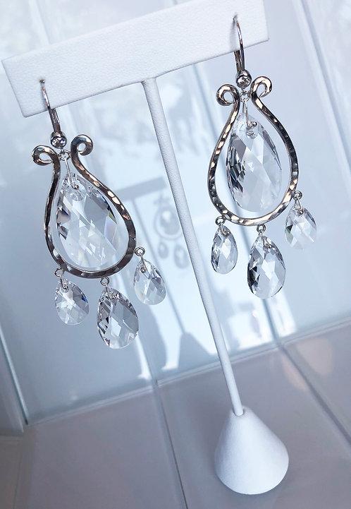 Chandelier Earrings with Swarovski Briolettes
