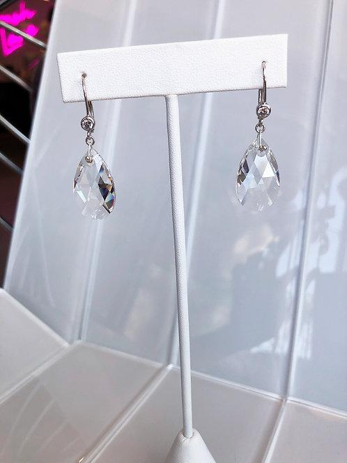 Classic Swarovski Pear Drop Dangle Earrings