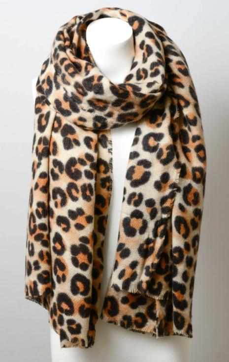 Chunky Leopard Print Scarf