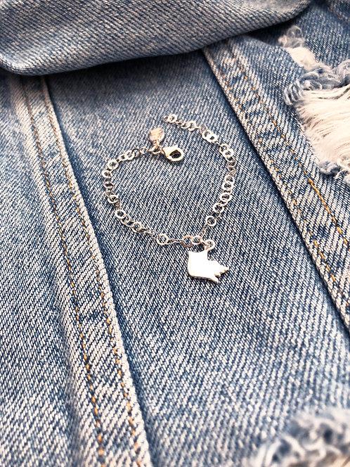 Kid's Fancy Link Bracelet with Charm