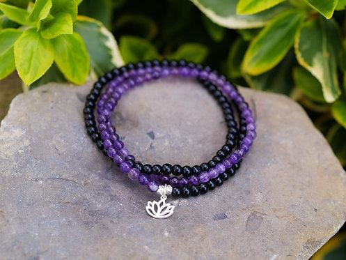 Lotus Triple Wrap Bracelet