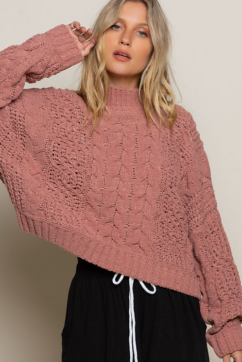 Super Soft Cropped Oversized Sweater
