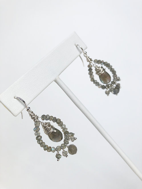 Labradorite Mini Chandelier Earrings