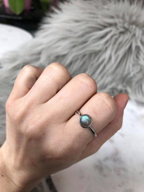 Labradorite Cabochon Ring