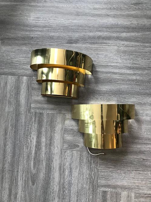 Metal Ribbon Sconces (pair)