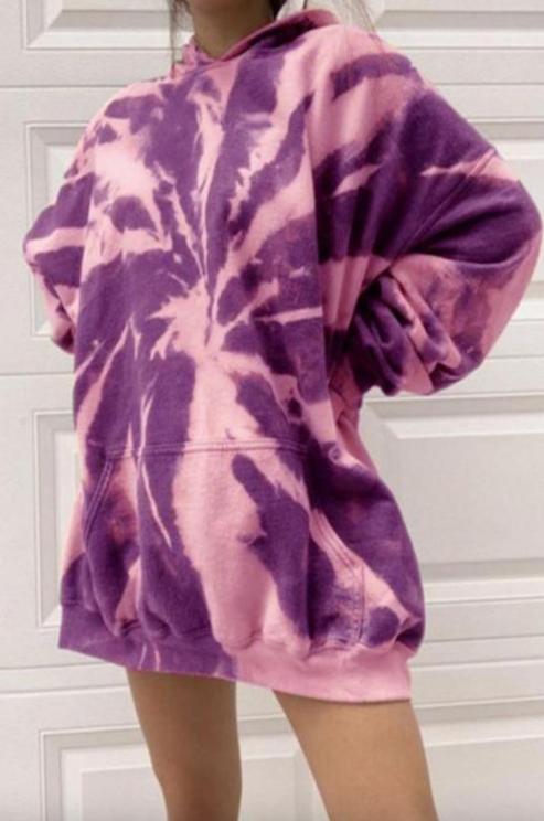 Oversized Tie Dye Yoga Hoodie