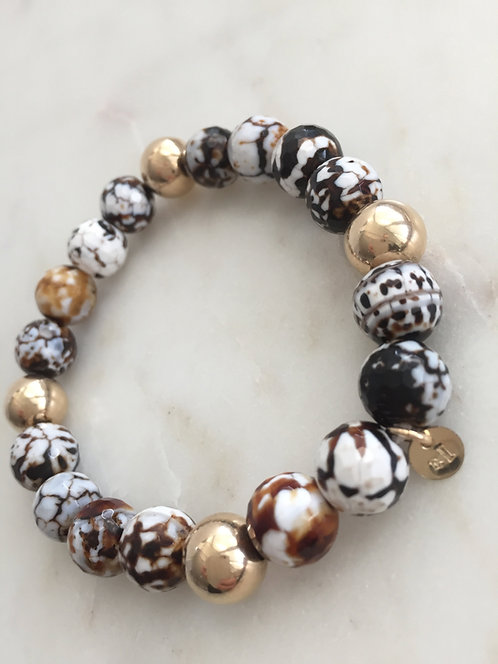 Tiger Bead Expandable Bracelet