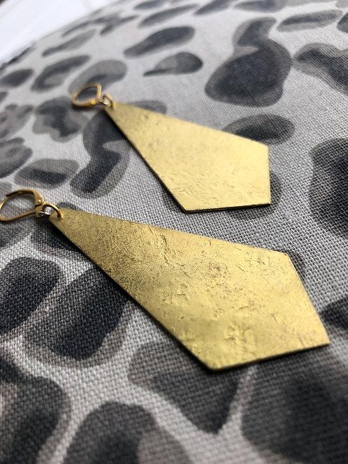 Chunky Pentagon Dangle Earrings