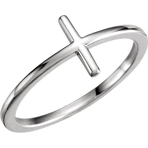14k Gold Bar Ring