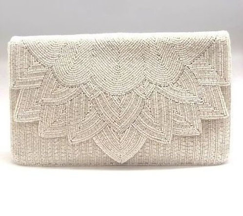 'Snow White' Beaded Clutch