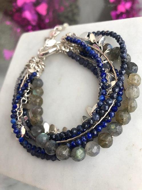 'Azure' Multi Strand Bracelet