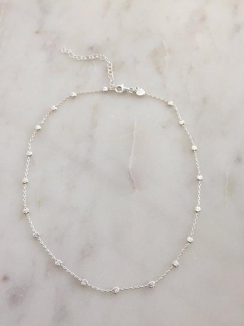 Fancy Silver Chain Choker