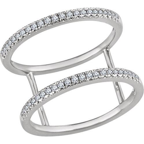 14K Yellow 1/5 CTW Diamond Ring (OS)