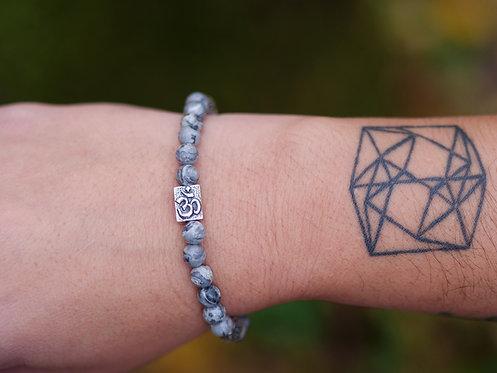 'Om' Map Stone Bracelet