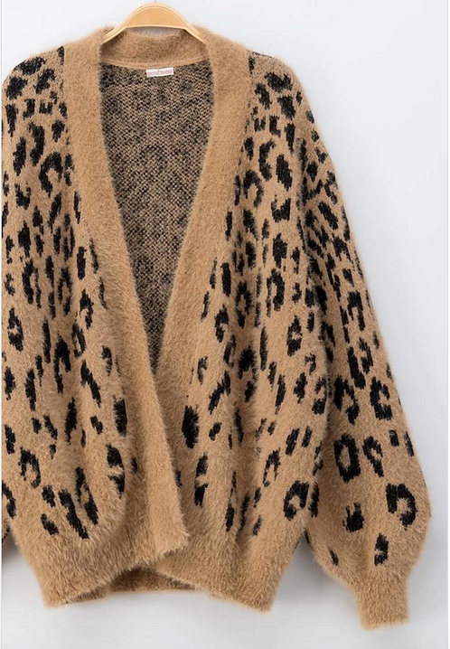 Leopard Fur Cardigan
