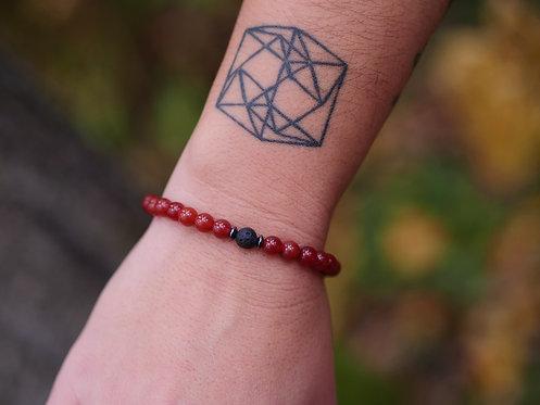 Single Carnelian Diffuser Bracelet