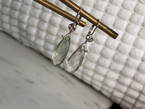 Fancy Gem Dangle Earrings