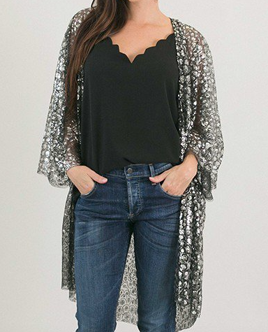 Sequined Cover-up