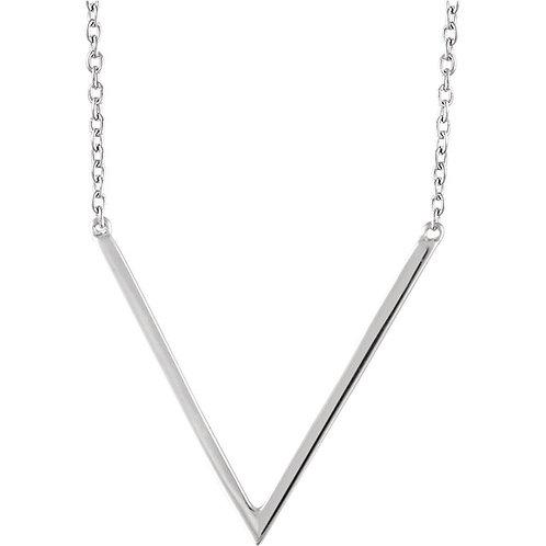 14k Gold 'V' Necklace