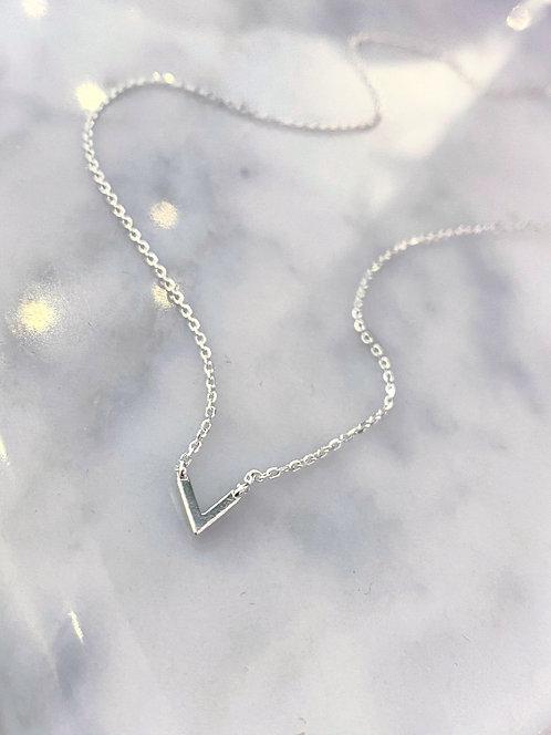 Silver Mini 'V' Necklace