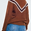 Thumbnail: Soft Knit Sweater in 'Burnt Orange' with Chevron Detail