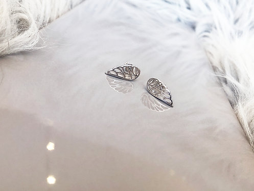 Silver 'Angel Wing' Studs