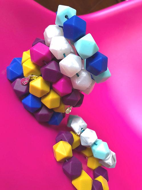 Jumbo Silicone Beaded Bracelet