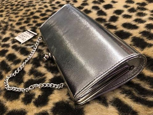 Metallic Silver Clutch