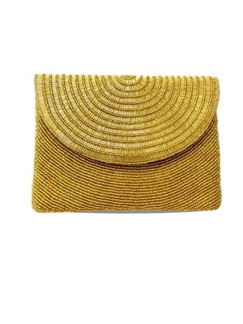 'Sunshine in Central Park' Beaded Clutch