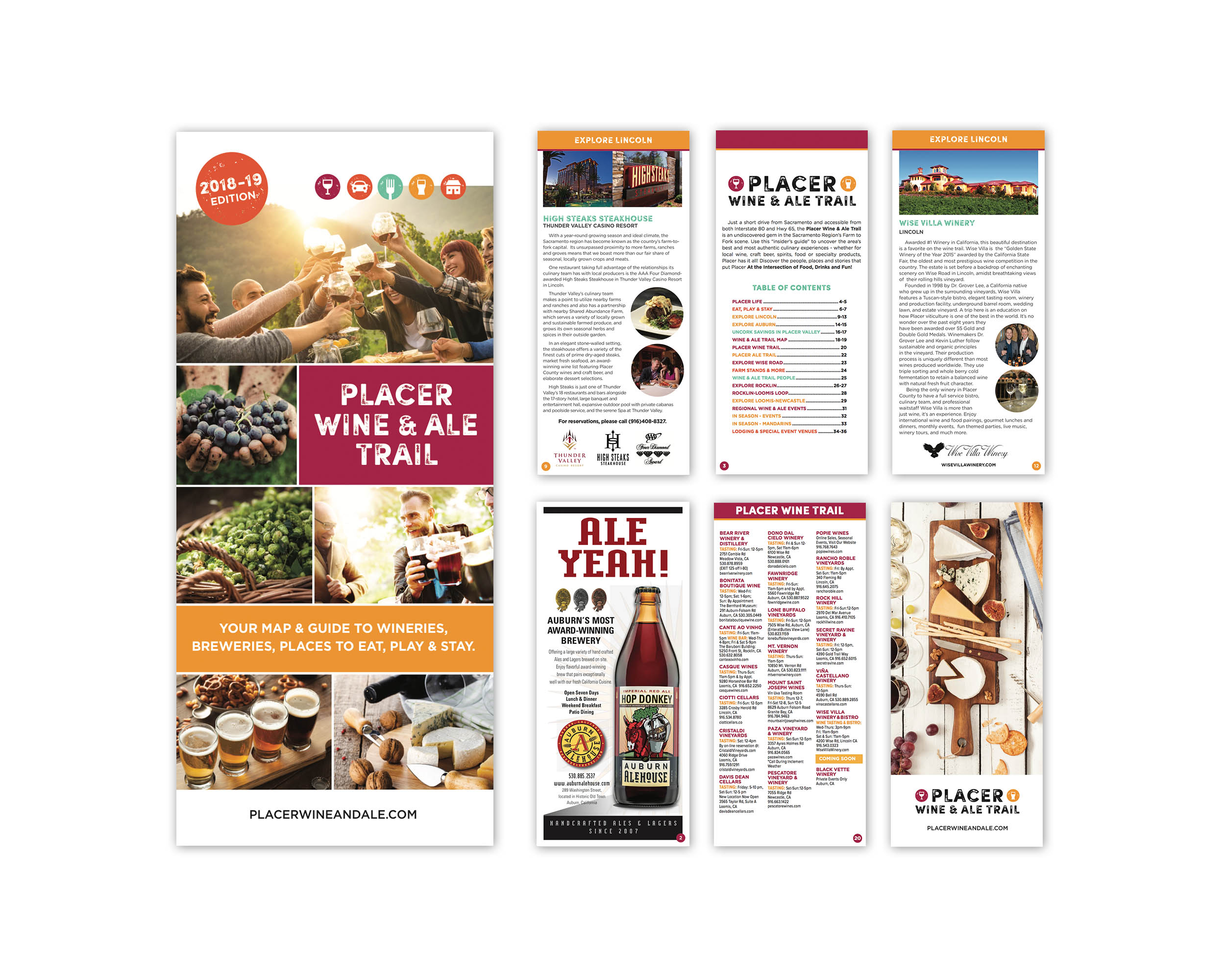 Placer Wine and Ale Trail Brochure