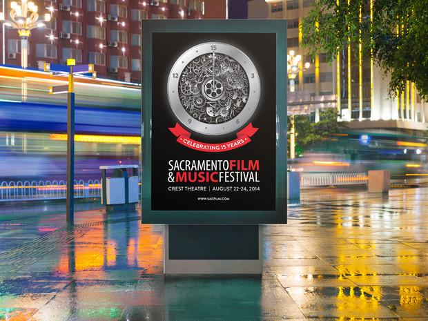 Sacramento Film & Music Festival Illustration and Poster