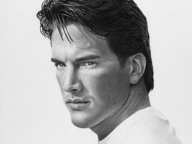 Male Model Portrait in Charcoal