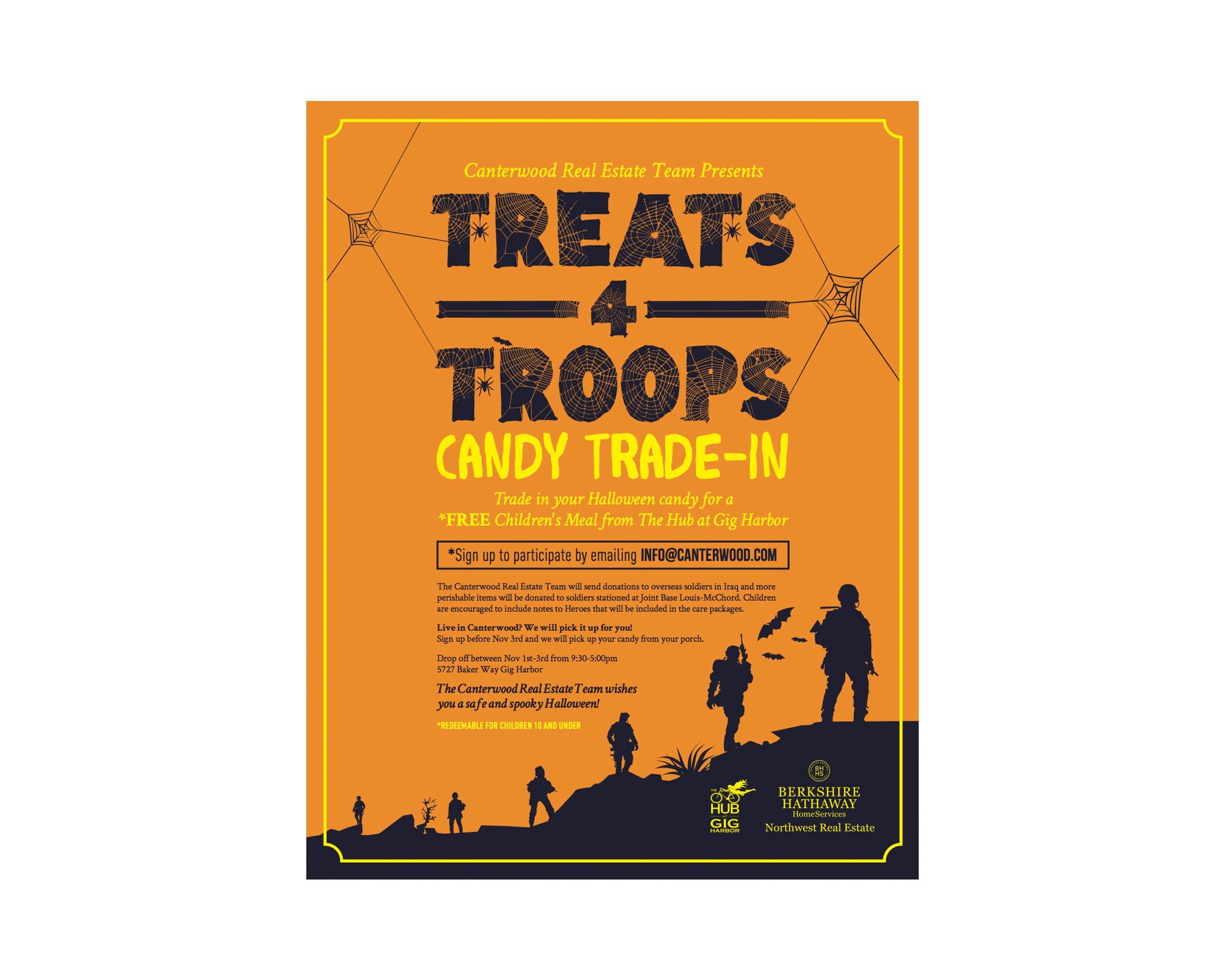 Treats-4-Troops Halloween Poster