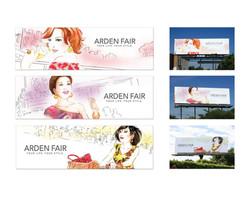 Arden Fair Mall Illustrations and Billboards