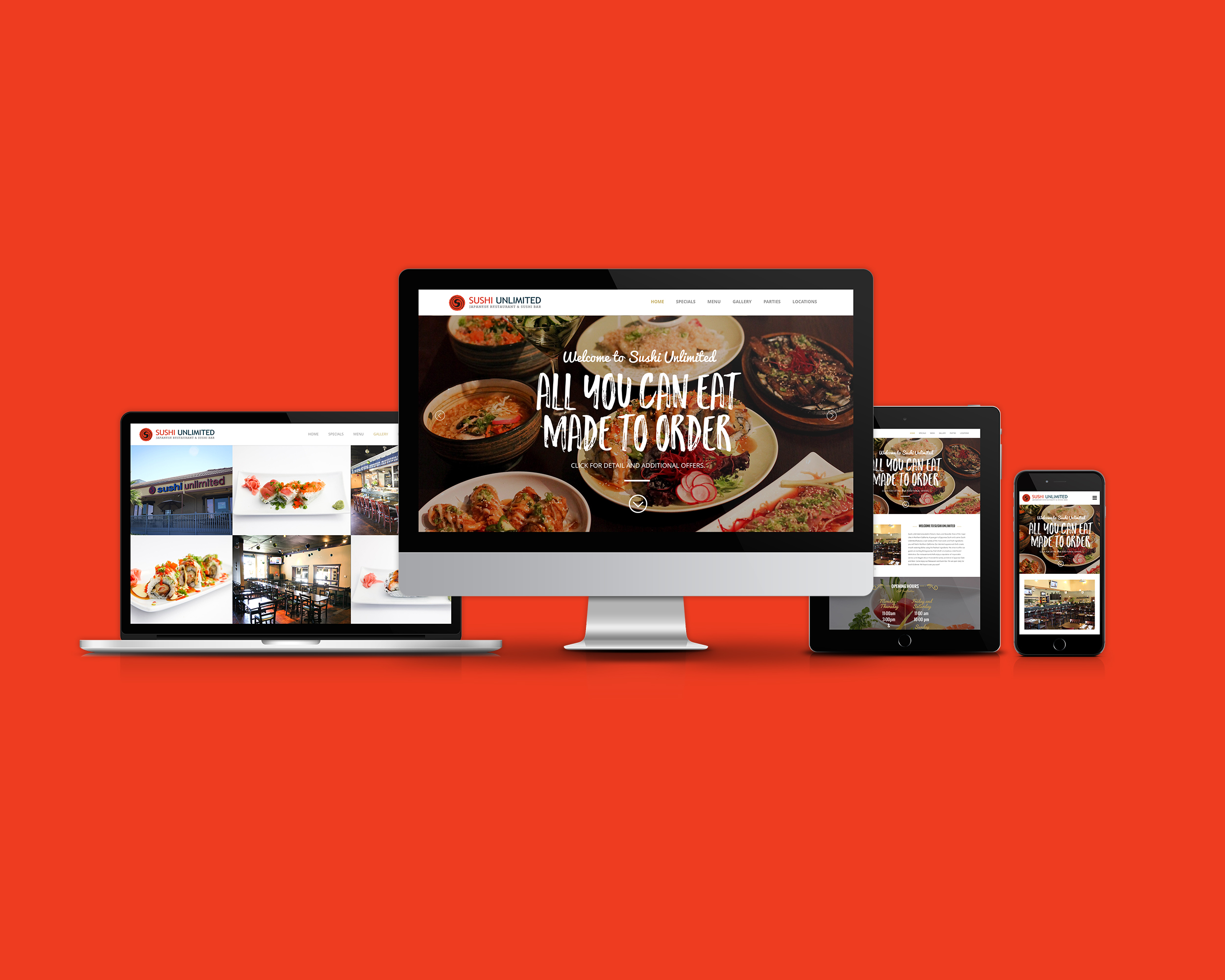 Sushi Unlimited Website