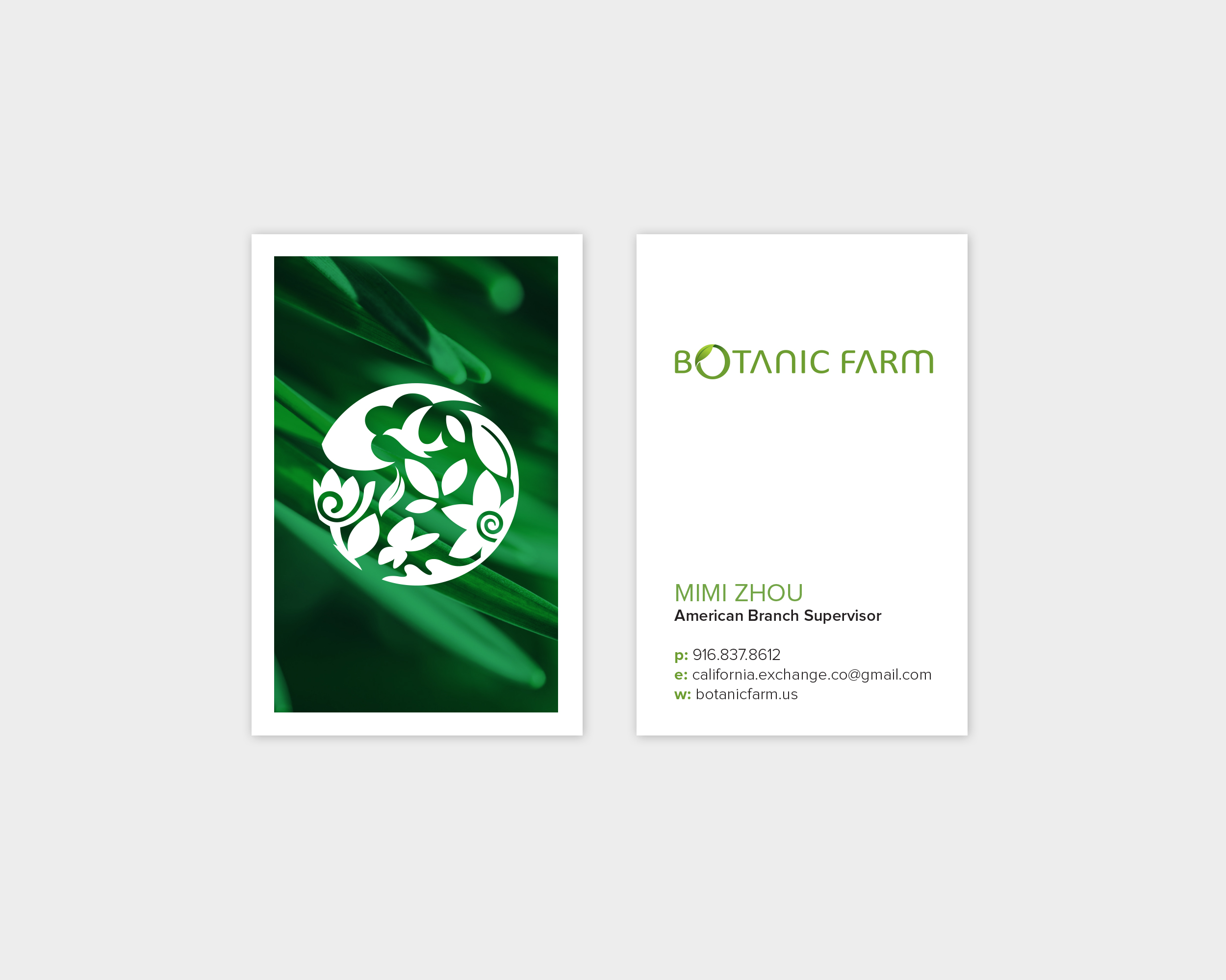 Botanic Farm Business Card Design