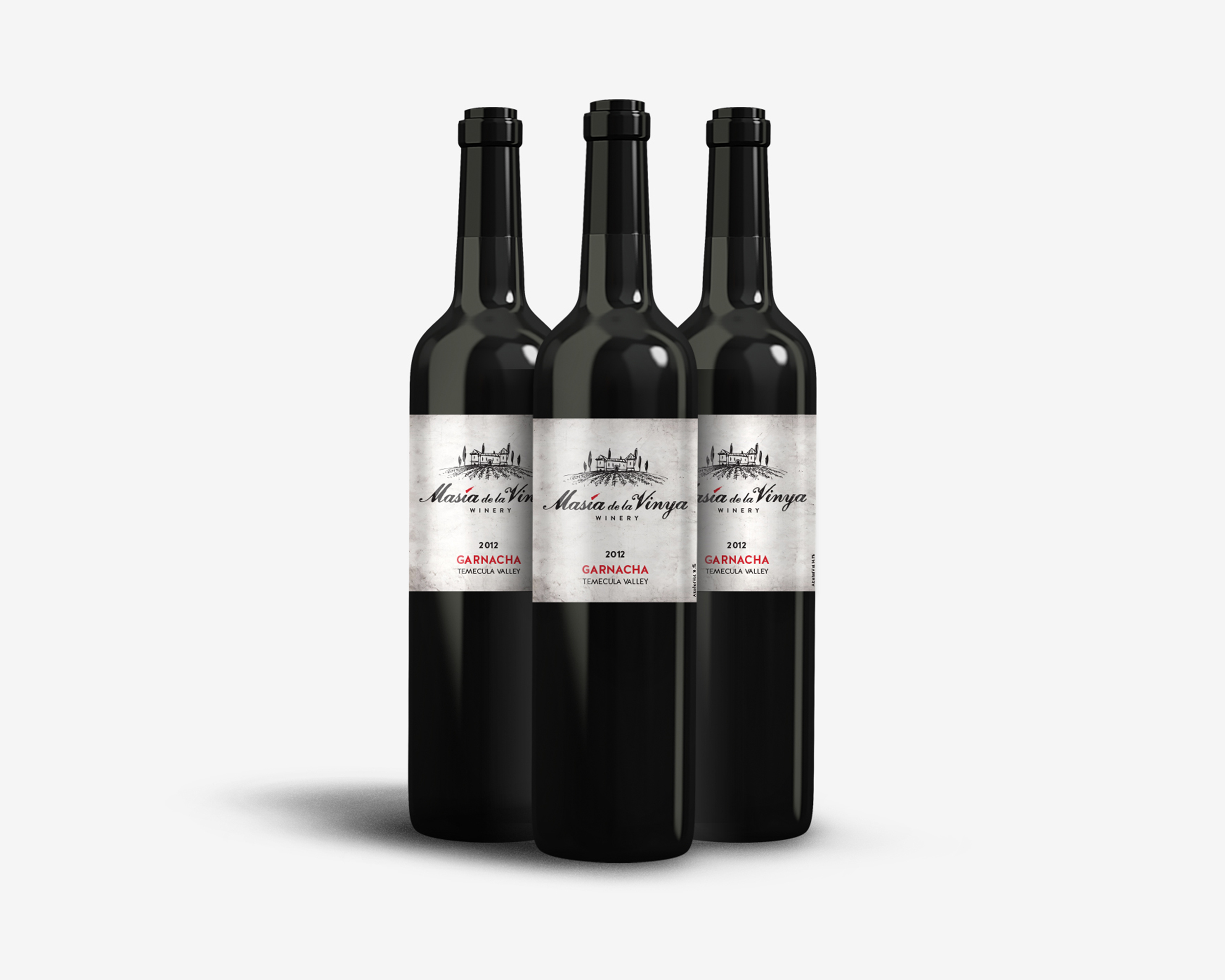 Masia de la Vinya Logo and Wine Label Design