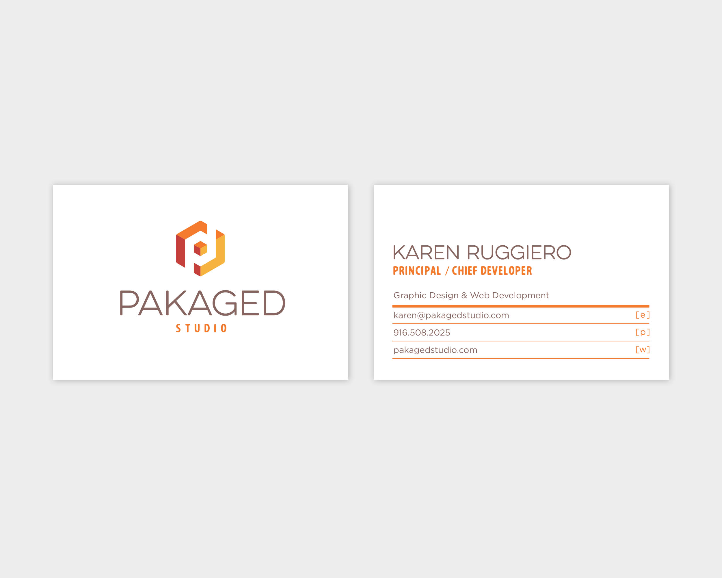 Pakaged Studio Business Card Design